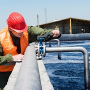 Water plant worker alone on site